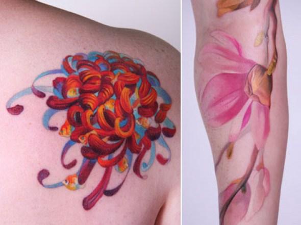 Pinturas en tatuaje de Amanda Wachob