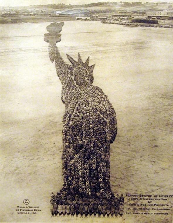 La Estatua de la libertad en mosaico
