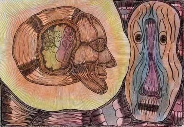 Pintura de enfermo mental Estados Unidos