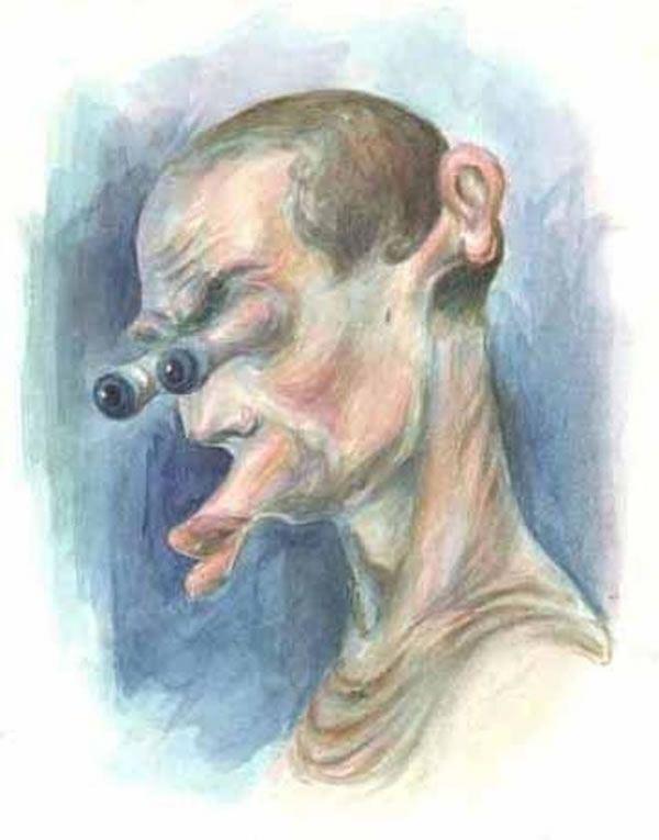 Pintura de un ruso perturbado de la mente