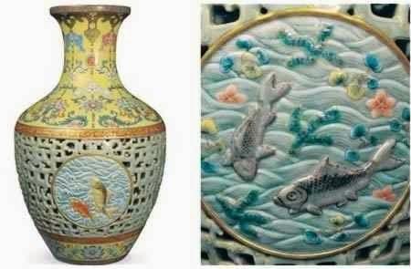 Jarrón de la dinastía Qialong