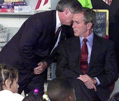 George Bush informado del atentado