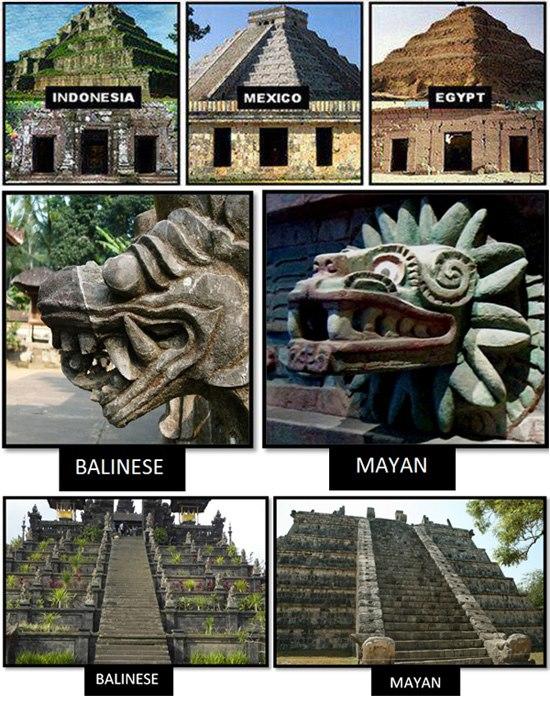 Camboya, México y Egipto