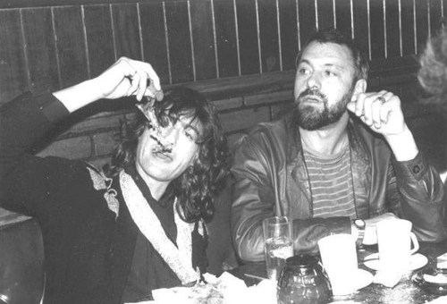 Jimmy Page y el manager Richard Cole