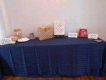 just starting to get gift / card table set up