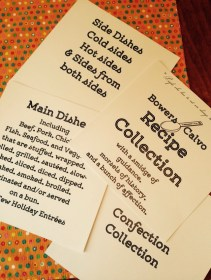 divider pages for the recipe collection