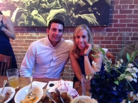 groomsman ryan with his fiance mary kate