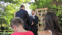 groomsman dave john is excited to get in line photo courtesy of beth cunningham