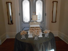 cake table in the dining room