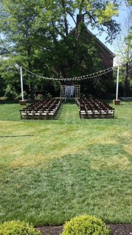 Photo courtesy of Liz Parrish. Before the guests arrived.