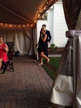 bridesmaid megan with groomsman dave