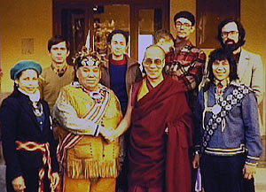 As early as 1979 Patrick Harrigan facilitated the meeting of a visiting delegation of North American Indian tribal leaders with His Holiness the Dalai Lama in Dharmshala.