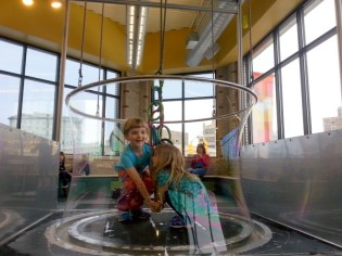 Getting bubbled (Children's Museum)