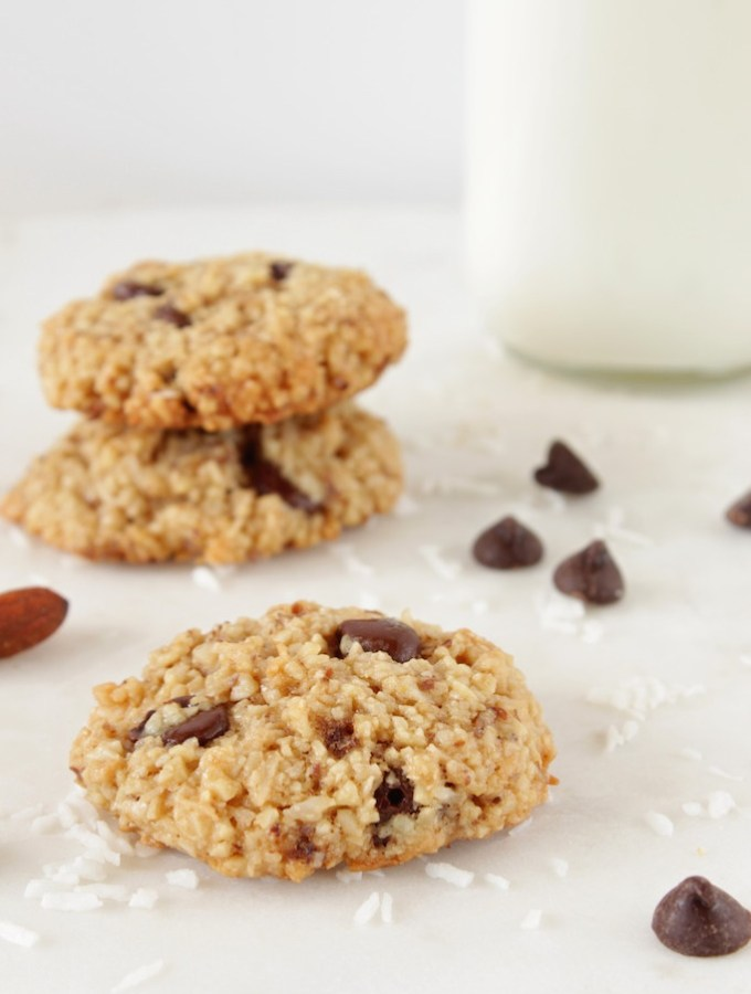 Almond Cookies with Coconut & Chocolate Chips