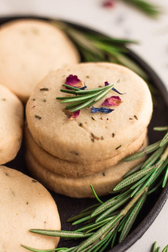 Rosemary Almond Shortbread Cookies Gluten-Free
