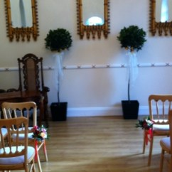 Chair Covers North East Leather Swivel Desk Cinnamon Rose A Wide Range Of Hire Vases Candelabras Bay Trees Mirror Plates Tealights And In The Newcastle