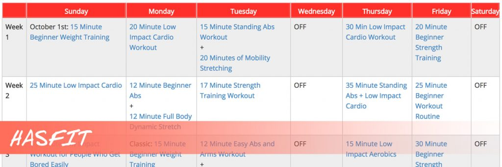 youtube based fitness programs