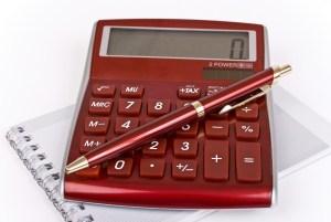 red-calculator