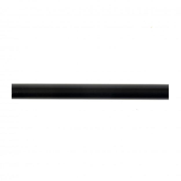 ferro wood metal rod for curtain black 150cm