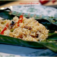 Grilled Rice with Salted Fish & Squid