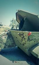 Israeli rocket launcher left in front of house in Beit Hanoun