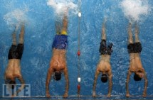 Men in a swimming pool