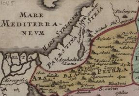 1045 AD Map of Palestine