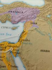 Map of Palestine from college history textbook