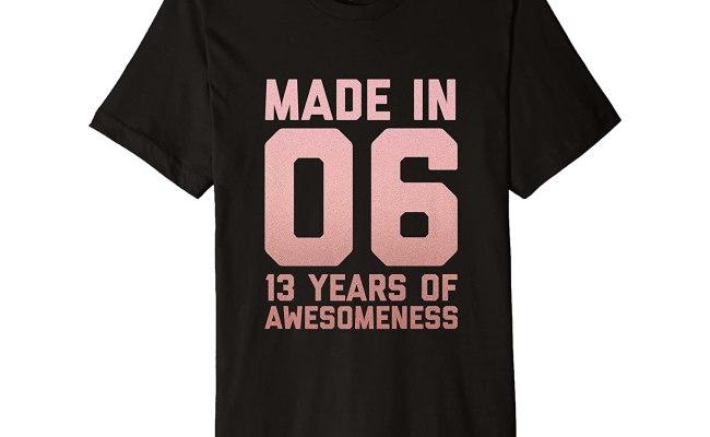 13th Birthday Shirt Girls Teens Gift Thirteen Year Old Niece