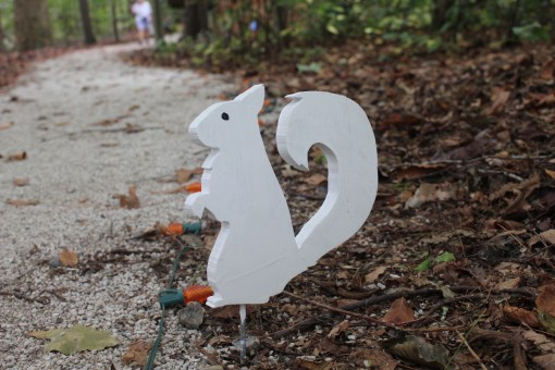Of course, white squirrels led the way through the Halloween paths.