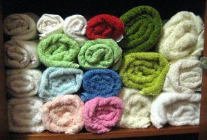 Dica de organização do armário de toalhas