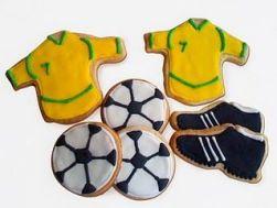 Comidas do Brasil para a Copa do Mundo: biscoitos de futebol