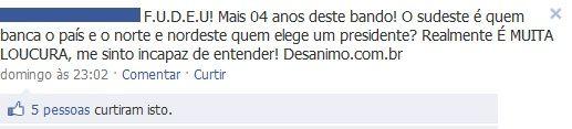Xenofobia anti-nordestinos no Facebook nas eleições para presidente 2010