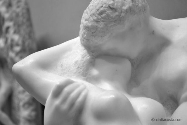 Eternal Spring, Rodin: the perfect kiss. Photo: Cíntia Costa.