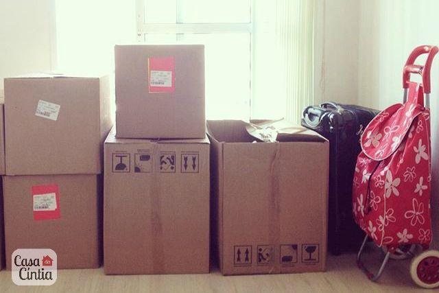 Mudança de casa: caixas de papelão na casa nova. Foto: blog Casa da Cíntia.