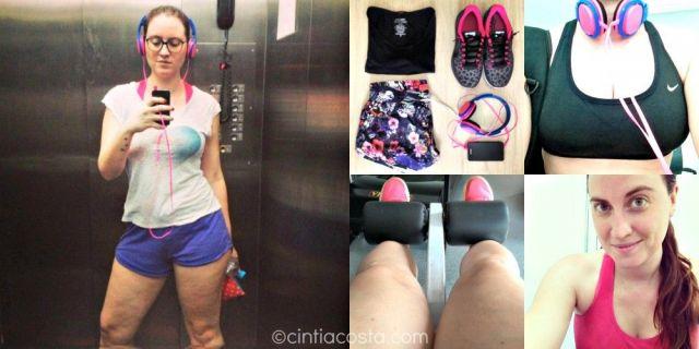 Blogueira fitness. Foto: blog cintiacosta.com.