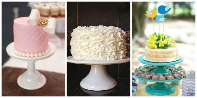 Idéias de bolos para chá de bebê.
