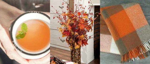 Decoração de outono para a casa.