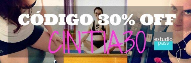 Cupom de desconto para academia de yoga, pilates, dança, funcional etc. pelo EstudioPassa. Da blogueira fitness Cíntia Costa.