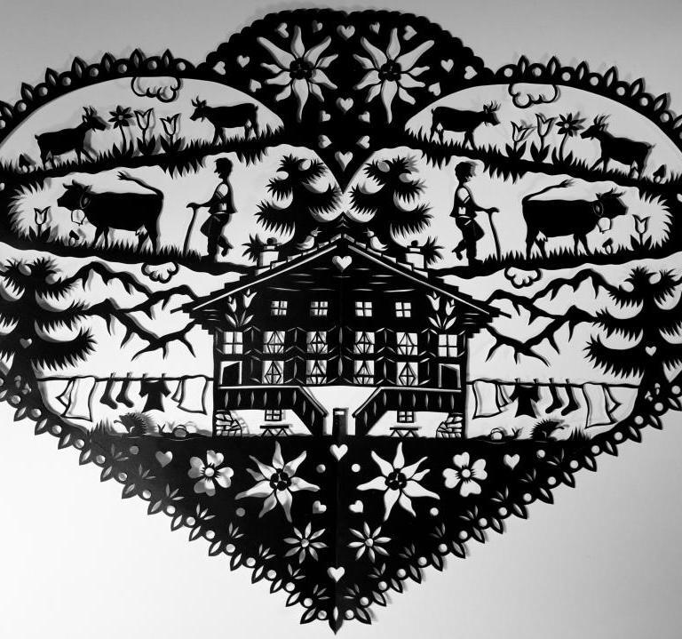 Découpage (scherenschnitt), a arte suíça de recorte em papel
