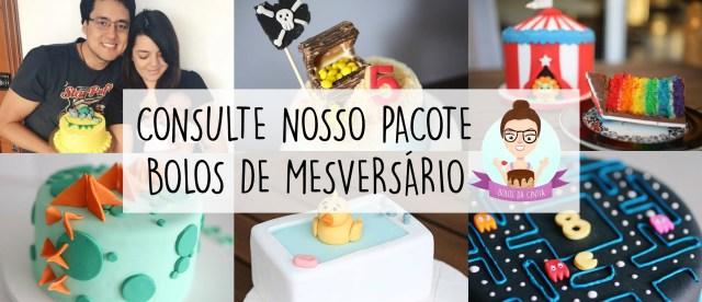 Pacote de bolos de mesversário do Bolos da Cíntia (que fez os bolos do filho da Lia Camargo).