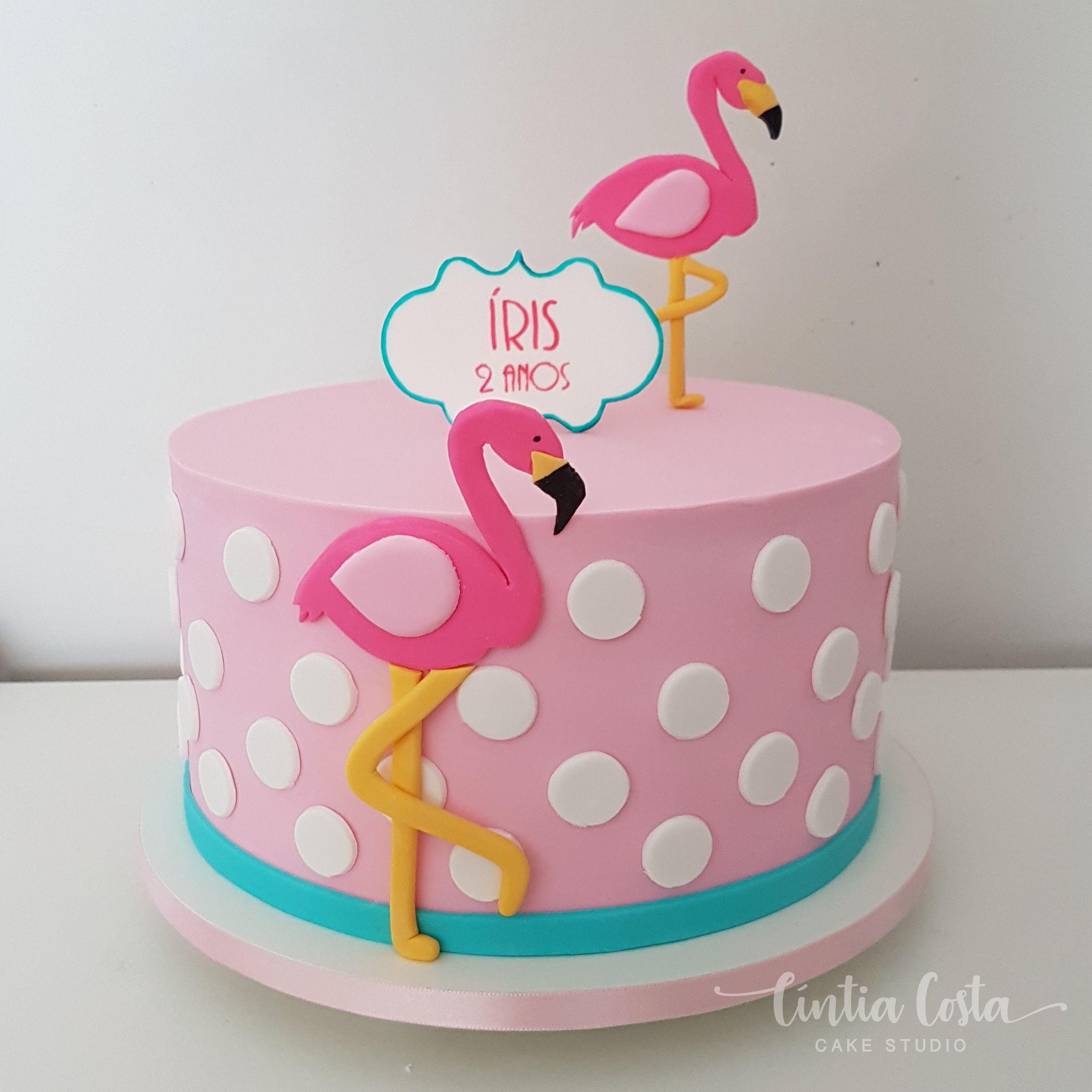 Bolo Flamingo Para Festa De Menina Cíntia Costa