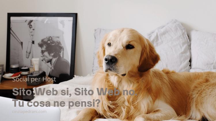 Sito web si, sito web no. Post Blog, Cinzia Pedrani