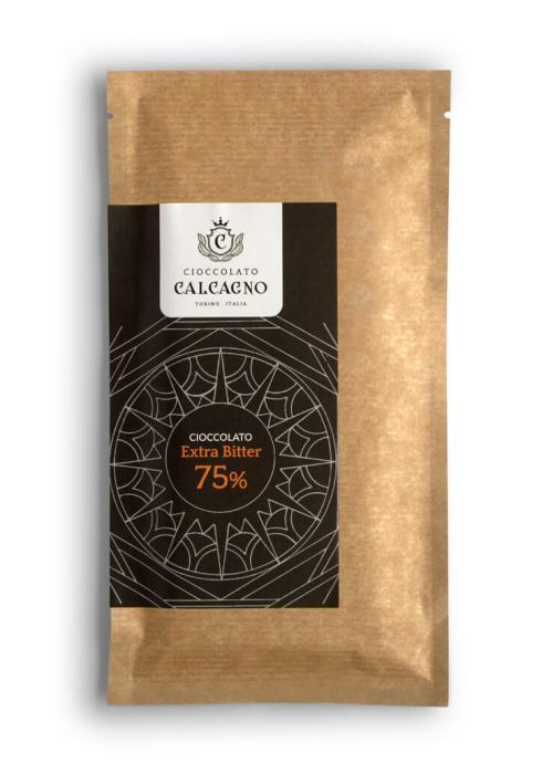 Tavoletta cioccolato fondente Extra Bitter 75%