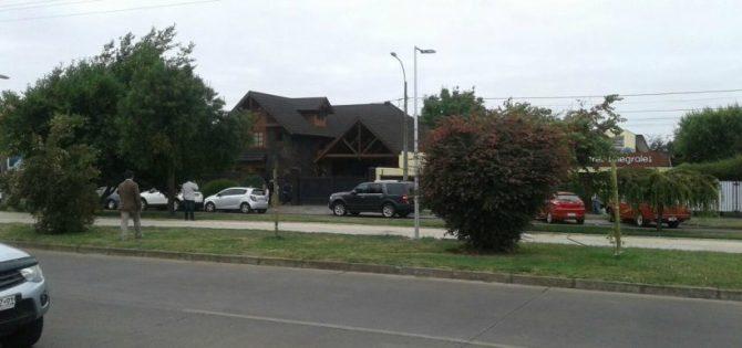 Casa donde opera la Unidad de Inteligencia Operativa Especial de Carabineros en La Araucanía (UIOE)