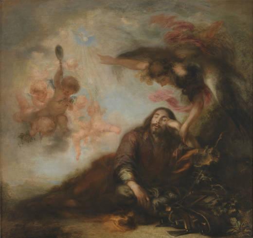 """Francisco de Herrera """"el Mozo"""". El sueño de San José. ca. 1662. Museo del Prado (legado Arango)"""