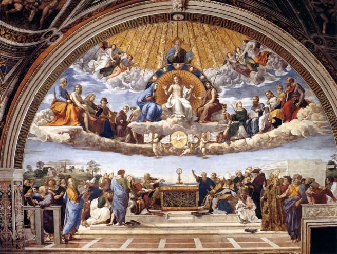 Rafael. Disputa del Sacramento. Stanza della Segnatura. Palacio Vaticano. Roma. Foto: web gallery of art