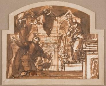 Aparición de la Virgen del Buen Consejo a San Luis Gonzaga. Museo del Prado. Madrid