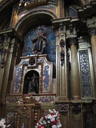 Retablo Virgen del Carmen. detalle.