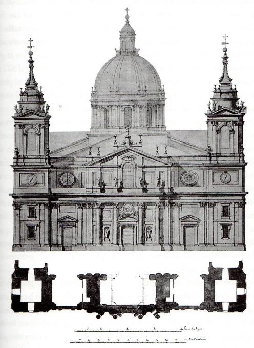 Ventura Rodríguez. Proyecto de fachada para la basílica del Pilar de Zaragoza.